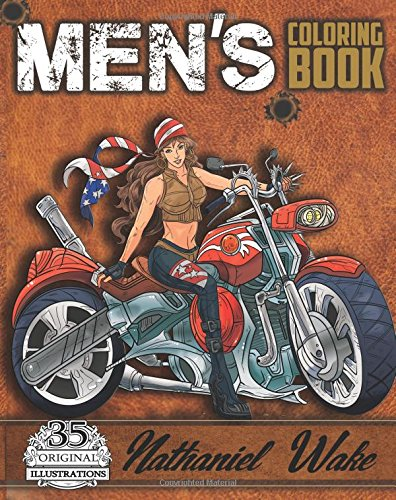 Men's Coloring Book: A Manly Mans Adult Coloring Book: Cyborg Women, Futuristic Battles, Women And Motorcycles (Adult Coloring Books): Volume 4 thumbnail