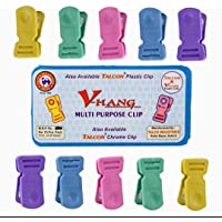 V Hang Multipurpose Heavy-Duty Plastic Clips/Pegs for Hanging Drying Clothing on Strings (40)
