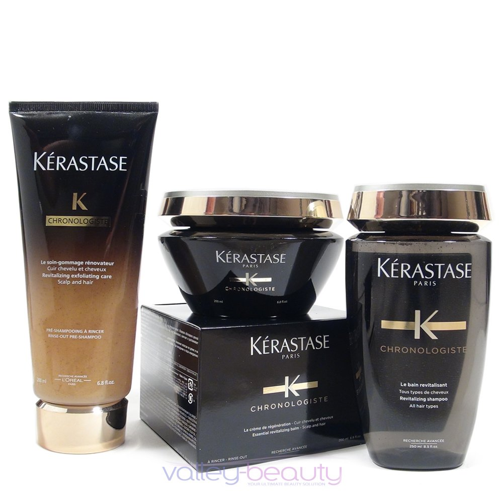 Kerastase Chronologiste Kit; Bain, Pre Shampoo and Masque, 3 Item Kit Hair Product by HAIR PRODUCT