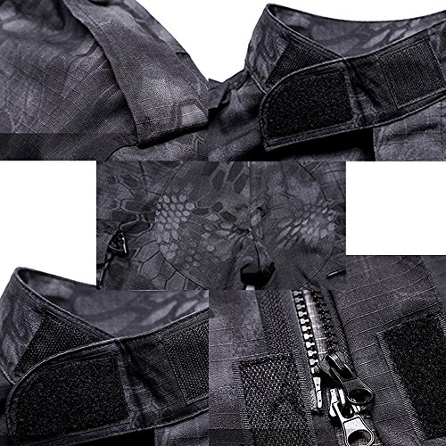 61AQo C%2BGZL. SS500  - QMFIVE Tactical Suit, Men's Camouflage Camo Combat BDU Jacket Shirt & Trousers Uniform War Game Army Military Paintball Airsoft Hunting Shooting Camo
