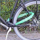 nean Fahrrad-Ketten-Schloss, Zahlen-Code-Kombination-Schloss, Stahlkettenglieder, grün, 6 mm x 900 mm Test