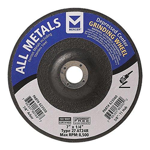 Mercer Industries 623550Type 27Alle Metals Schleifscheibe, 17,8cm X 1/10,2cm X 7/20,3cm Single Körnung, 20Stück (Single Mercer)