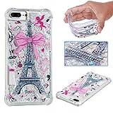 Lomogo [iPhone 7 Plus]/[iPhone 8 Plus] Hülle Silikon Glitzer Flüssig, Schutzhülle Durchsichtig mit Muster Stoßfest Kratzfest Handyhülle Case für Apple iPhone 7Plus/8Plus (5,5 Zoll) - LOYBO36503#4