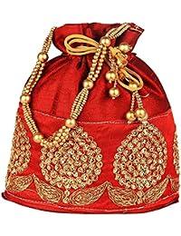 Riddhi Sales Ethnic Rajasthani Potli Bag/Potli Purse/Bridal Clutch/Bridal Purse For Patry/Wedding/Wedding Gift