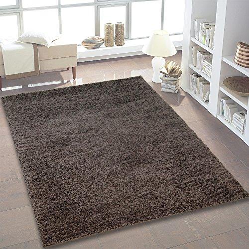Shaggy Teppich Hochflor Langflor Teppiche fürs Wohnzimmer und Schlafzimmer geeignet sowie für die Küche und Kinderzimmer Ökotex 100 zertifiziert (080x150 cm, dunkel grau)