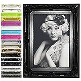 WOLTU 9474 Bilderrahmen Foto Galerie Bild Rahmen Bilder Collage Barock 7 Farben in 5 Größen (Schwarz, 20X30)