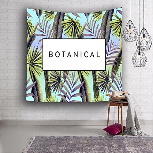 PLZY Polyester 3D Drucken Tapisserie zum Leben Zimmer Kinder Schlafzimmer Hotel Dekor, Multi Wahl, Tropisch Pflanzen, 3 (Tropische Zimmer Dekor)