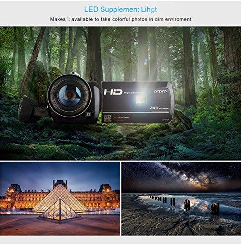 LWD HD caméscope caméra vidéo numérique Wifi Full HD 1080P Prise en charge de la vision nocturne Télécommande Fonctions du retardateur LCD 3 pouces Zoom numérique 18x Caméra vidéo de vision nocturne infrarouge 1080P Portable DVR avec lumière de remplissage LED (D395)