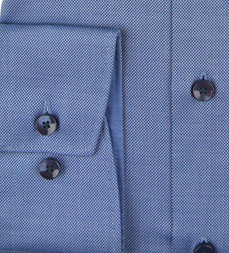 Herren Hemden Modern Fit Langarm Mittelblau