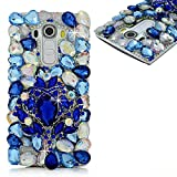 spritech (TM) LG G Stylo Hard Case, Bling Kristall 3D Handmade Strass Design Transparent Phone Cover, metall, Muster 22, LG G Stylo