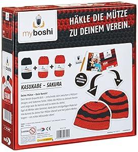 Noris Spiele 606311349 - My Boshi, Fan Mütze in den Vereinsfarben rot-schwarz