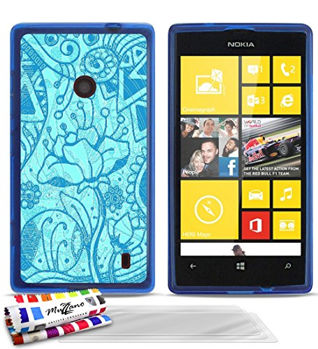 carcasa-flexible-ultra-slim-nokia-lumia-520-de-exclusivo-motivo-flores-de-antiguedades-azul-de-muzza