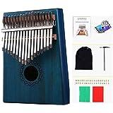 LIWEISDSDFS Piano Kalimba à 17touches avec corps en acajou bleu