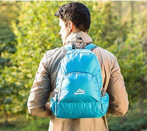 Zaino Leggero Pieghevole - Landove Zaini da Escursionismo Leggeri Impermeabile Trekking Scuola Borsa Sportiva da Viaggio per Bici Campeggio Outdoor Alpinismo blu
