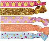 Prinzessin Lillifee 5 Bedruckte und Glitzernde Twistbänder als Armband Oder Haarband