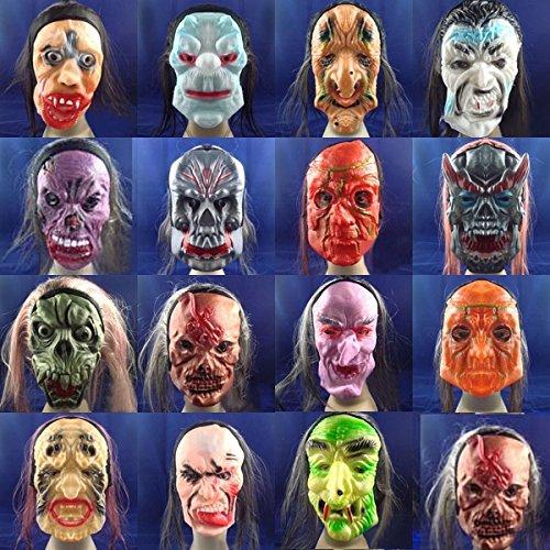 mark8shop Funny Halloween Horror Maske Terror Gummi Scary (Maskes Halloween)
