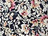Herz Stoffe Österreich 0,5m Viskose Jersey Blüten Blumen Punkte Navy dunkelblau beige rosa Creme Damen Meterware