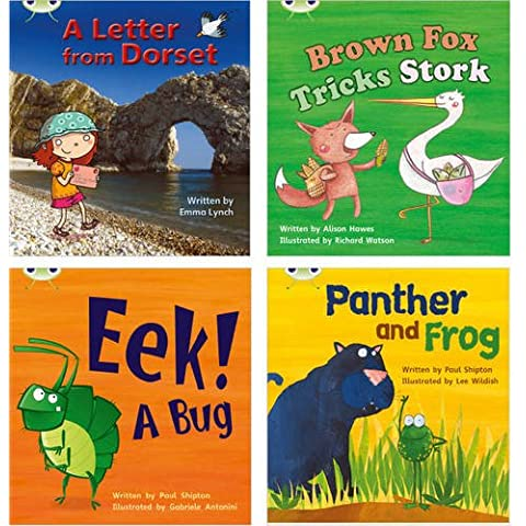 Learn to Read at Home with Phonics Bug: Pack 5 (Pack of 4 Reading Books with 3 Fiction and 1