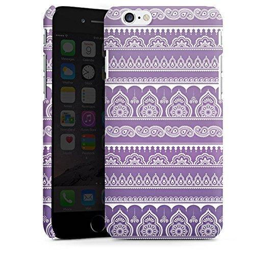 Apple iPhone SE Housse Outdoor Étui militaire Coque Mandala Henna Indien Lilas Cas Premium mat