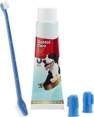 Sweetypet Hundezahnbürste: 4in1-Zahnpflege-Set für Hunde mit Zahnpasta, Zahnbürste, Fingerbürsten (Zahnpflegeset für Hunde)