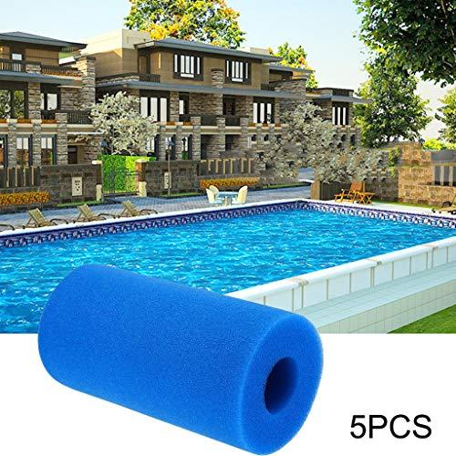 Filter Kartuschen für Pool Schwimmbad Pumpen,3/5PCS waschbare Schwamm-Schaum-Patrone verwendbarer Pool-wiederverwendbarer Schaum-Filter Filterkartuschen (5PC)