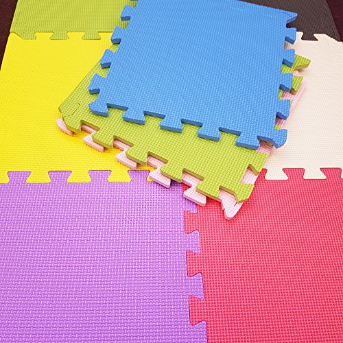stomping ground toys 18 dalles de sol en mousse pour enfant tapis d 39 activit color es. Black Bedroom Furniture Sets. Home Design Ideas