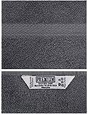 Betz Waschhandschuhe Set Waschlappen 100% Baumwolle Größe 16×21 cm mit Kordelaufhänger Premium Farbe anthrazit Grau - 4