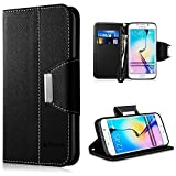 Coque Samsung Galaxy S6 Edge, Vakoo Galaxy S6 Edge Coque Case Housse Etui TPU Bumper Cover pour Samsung Galaxy S6 Edge (Noir)