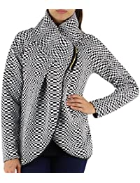 GG Ladies Womens Italian Lagenlook Quirky Layer Zip Collared Long Sleeve Cocoon Coat Jacket Poncho Cape
