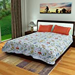 Drape your bed in the finest of Bed Sheets and lend a startling new look to your room. Add life to your home with these lovely designs in beautiful realistic colours, which will add freshness around you instantly.this bedsheet comes with two matching...