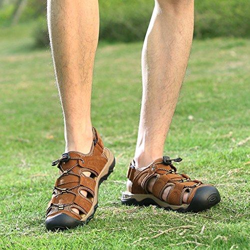 Eagsouni Sandales de Randonnée Extérieur Trekking Chaussures homme marron-A
