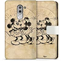 Huawei Honor 6x Tasche Leder Flip Case Hülle Disney Minnie & Mickey Mouse Geschenke Merchandise