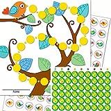 Orinal Entrenamiento–3Multicolor Recompensa Tarjetas con 90pegatinas en Juego Pájaros + además 54Like verde Pegatinas Niños Baby Cuidado
