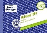 Avery Zweckform 1250 Quittung MwSt. separat ausgewiesen (A6 quer, 100 Blatt) weiß