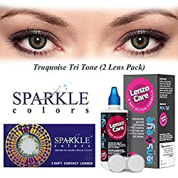Sparkle Monthly Contact Lens - 2 Units (-2.5, Turquoise)
