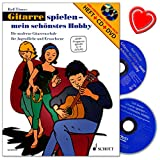 Gitarre spielen - mein schönstes Hobby Band 1 - erfolgreiche Gitarrenschule von Rolf Tönnes für Unterricht und Selbststudium – jetzt auch auf DVD - Lehrbuch mit CD, DVD und bunter herzförmiger Notenklammer