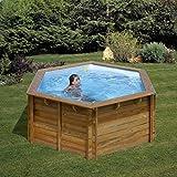 Piscina de madera GRE redonda Lili Wooden Pool GRE 790080
