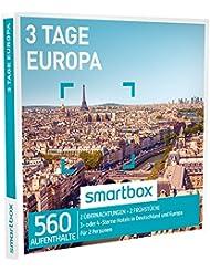 SMARTBOX - Geschenkbox - 3 TAGE EUROPA - 560 Aufenthalte: 2 Übernachtungen mit Frühstück in 3* oder 4* Hotels