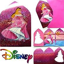 12-piezas Set de tarjetas de invitación MAGIC PRINCESA para DisneyCumpleaños de los Niños 6 Tarjetas De La Invitación plus 6 Sobres niños Cumpleaños Fiesta Fiesta motos Invitaciones Placas Niña Prinzessin Disney