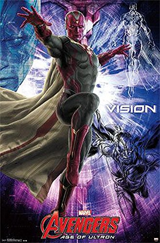 Avengers Age of Ultron Poster Vision (55,88cm x 86,5cm) + weiße Geschenkverpackung. Verschenkfertig!