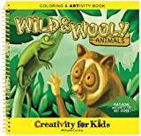 Creativity For Kids Coloring & Artivity Book: Wild & Wooly Animals Watercolor