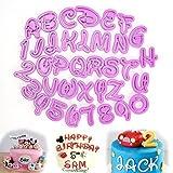 Ruiying Fondant Modellierwerkzeug Alphabet Zahlen Buchstaben Ausstecher Stempel Ausstechformen Backen Kuchen lustig Tortendeko für Party Geburtstag Feier 36 teilig