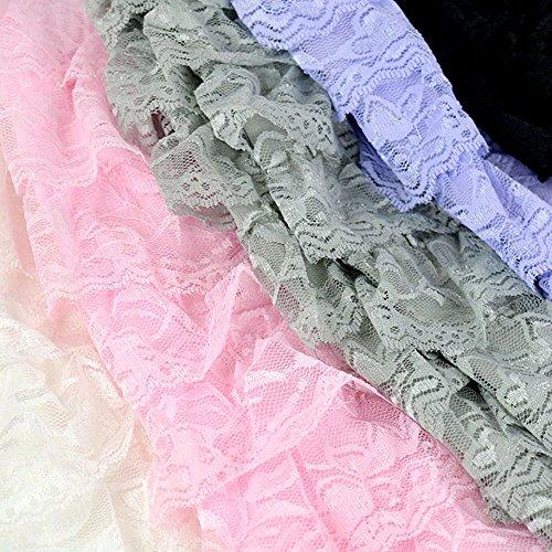 Szaerfa Pantalons Leggings de Mode Nice 8 Layers Lace Shorts Pantalons de Sécurité New Hot Jaune clair
