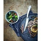 WMF Steakmesser Set 6-teilig, Cromargan Edelstahl poliert, Wellenschliff, spülmaschinengeeignet, Steakbesteck in Holzbox - 4