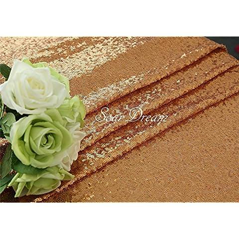 3,7m Oro Rosa Handmade Paillettes Tessuto sfondo Natale/Halloween Guide da tavolo/Tovaglia/Tessuto D ¨ ¦