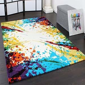 teppich modern splash optik designer teppich bunter farbmix multicolour gr sse 160x230 cm. Black Bedroom Furniture Sets. Home Design Ideas
