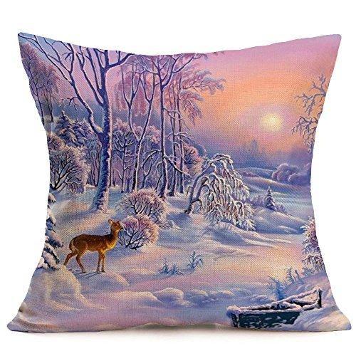 hnachten Leinen Kissenbezüge, Sofa Kissenbezug Home Dekoration ()