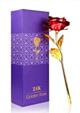 24K Golden Rose - Best Gift for Girlfriend | Boyfriend Or Husband | Wife on Special Day | Birthday | Anniversary