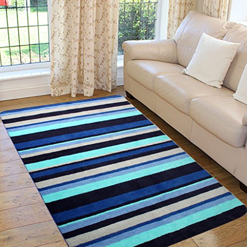 Saral Home Very Soft Micro Polyester Anti Slip Tufted Floor Carpet -120x180 cm
