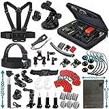 Vanwalk Kit de Accesorios de Deportes al Aire Libre para Cámara GoPro HERO 5/4/3+/3/2/1, SJcam SJ4000 SJ5000 SJ6000 SJ7000, Xiaomi Yi, DBPOWER - (12 en 1)